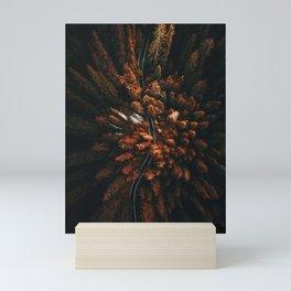 autumnal forest  Mini Art Print