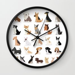 Dog Overload - Cute Dog Series Wall Clock