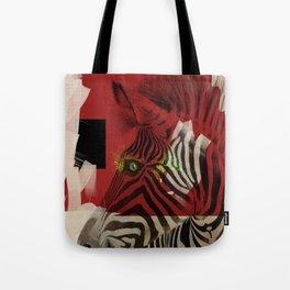 Zebra 4.0 Abstract Art Tote Bag
