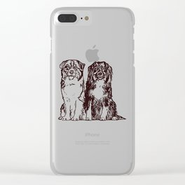 Australian Shepherd working dog for dog lovers Clear iPhone Case