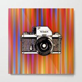 Nikon F on color background Metal Print