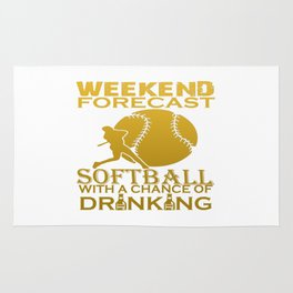 WEEKEND FORECAST SOFTBALL Rug