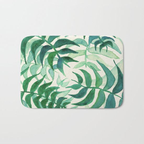 Botanical vibes Bath Mat