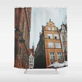Gdansk alleyway Shower Curtain