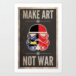Stormtrooper - Make Art-Not War - Piet Mondrian Art Print