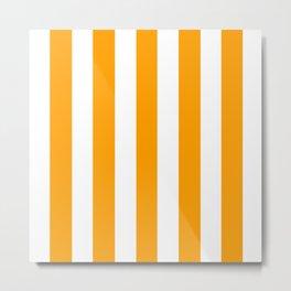 Orange peel - solid color - white vertical lines pattern Metal Print