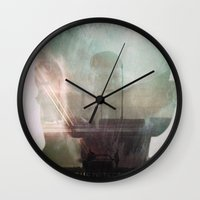 true detective Wall Clocks featuring TRUE DETECTIVE by Gaelle Clément