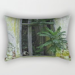 Lostplaces Window in castle Pottendorf Rectangular Pillow