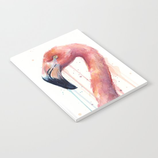 Flamingo Art Watercolor Notebook