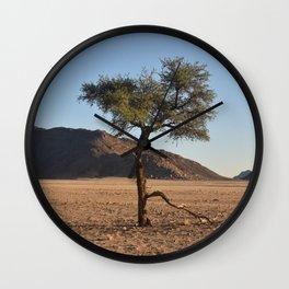Namib Desert Tree Wall Clock