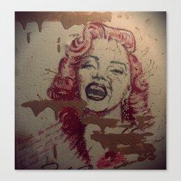 Makeup Marilyn Canvas Print