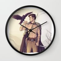 warrior Wall Clocks featuring Warrior by brightfallenstars