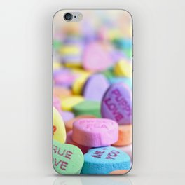 Valentine's Day Candy Hearts iPhone Skin