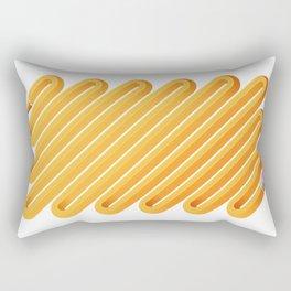 Curved Pencil Rectangular Pillow