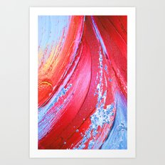 Acrylic Abstract on Canvas 3 Art Print