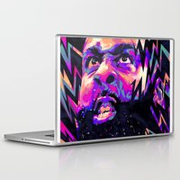 nba Laptop & iPad Skins featuring JAMES HARDEN: NBA ILLUSTRATION V2 by mergedvisible