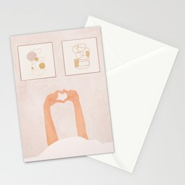 Hand Heart Stationery Cards