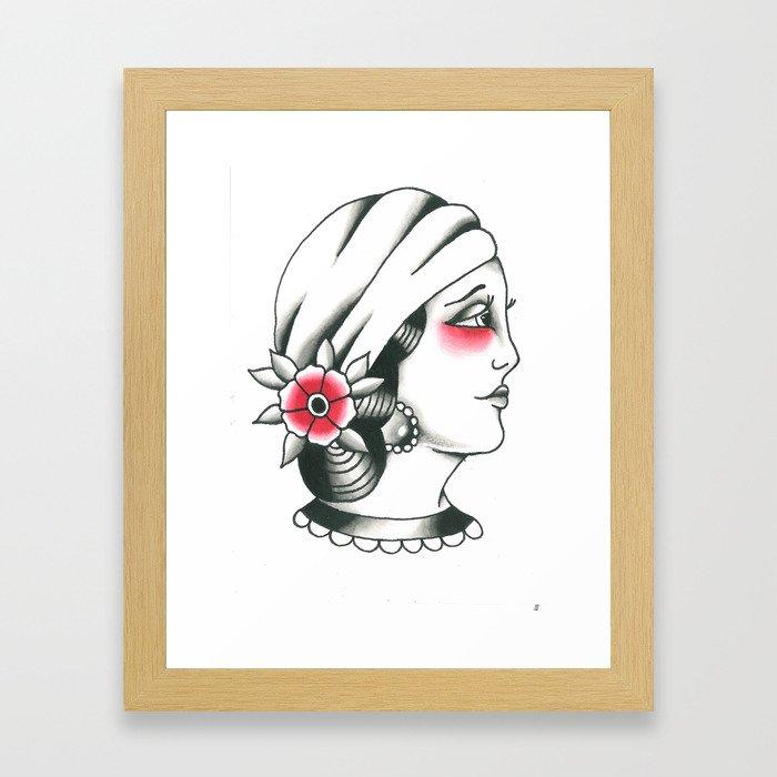 gypsy girl Framed Art Print