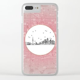Beijing, China City Skyline Illustration Drawing Clear iPhone Case
