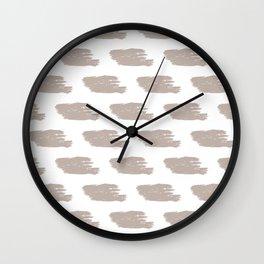 Oatmeal & White Watercolor Stripes Wall Clock