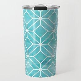Geometric Crystals: Sea Glass Travel Mug