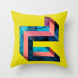 D like Deconstruction Throw Pillow