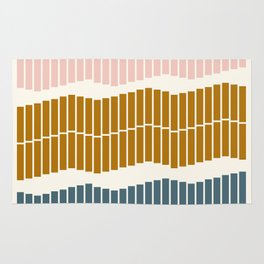 Geometric Piano Keys Rug