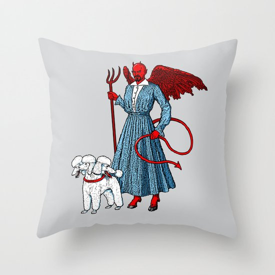 Devil With A Blue Dress On Throw Pillow