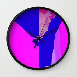 Fucsia Landscape Wall Clock
