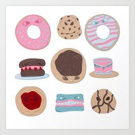 Evil Desserts Art Print
