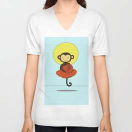 Monk-ey Unisex V-Neck