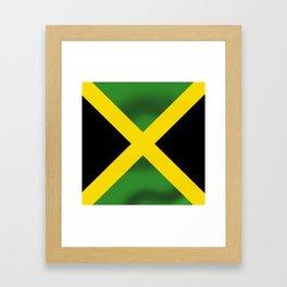 Jamaican Flag Framed Art Print