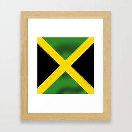 Jamaican Flag Framed Art Print