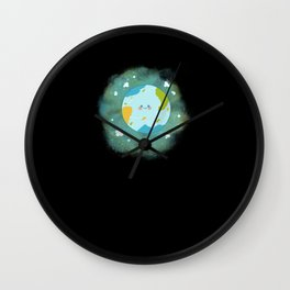 Happy Planet Cheerful Earth Climate Change Wall Clock