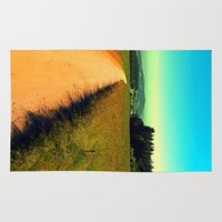 hiking Area & Throw Rugs featuring Hiking on a hot afternoon by Patrick Jobst