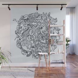 TWO WORLDS Wall Mural