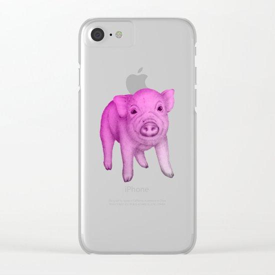 Piggy in Pink Clear iPhone Case