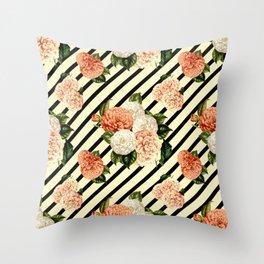 Chrysanthemum Rain Throw Pillow