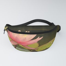 Pink Beauty On Green Fanny Pack