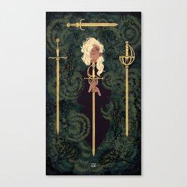 4 of Swords Canvas Print
