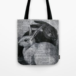 Dictionary Bunnies by Kathy Morton Stanion Tote Bag