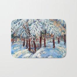Snow in October by Dennis Weber / ShreddyStudio Bath Mat