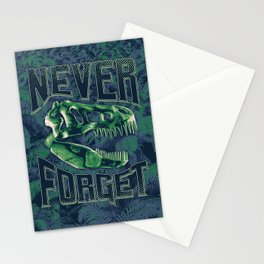 Never Forget T-Rex Stationery Cards