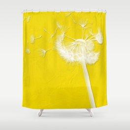 Freesia Yellow Dandelion Shower Curtain
