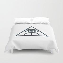 All Seeing Eye - Illuminati Pyramid Version 1 Duvet Cover