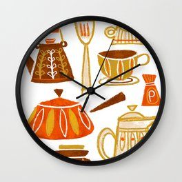 Mid Century Modern Kitchen Wall Clock