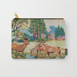 Cross stitch Deer Carry-All Pouch