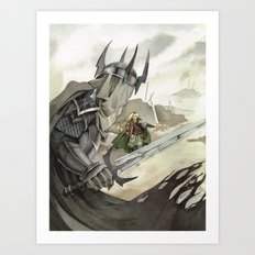 Eowyn and the Witch King Art Print