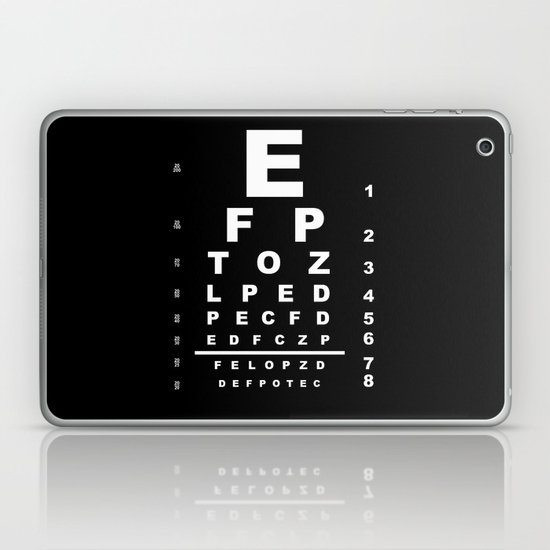 Inverted Eye Test Chart Laptop Ipad Skin By Homestead Society6