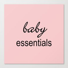 Baby Essentials Pantone 2016-Rose Quartz Canvas Print